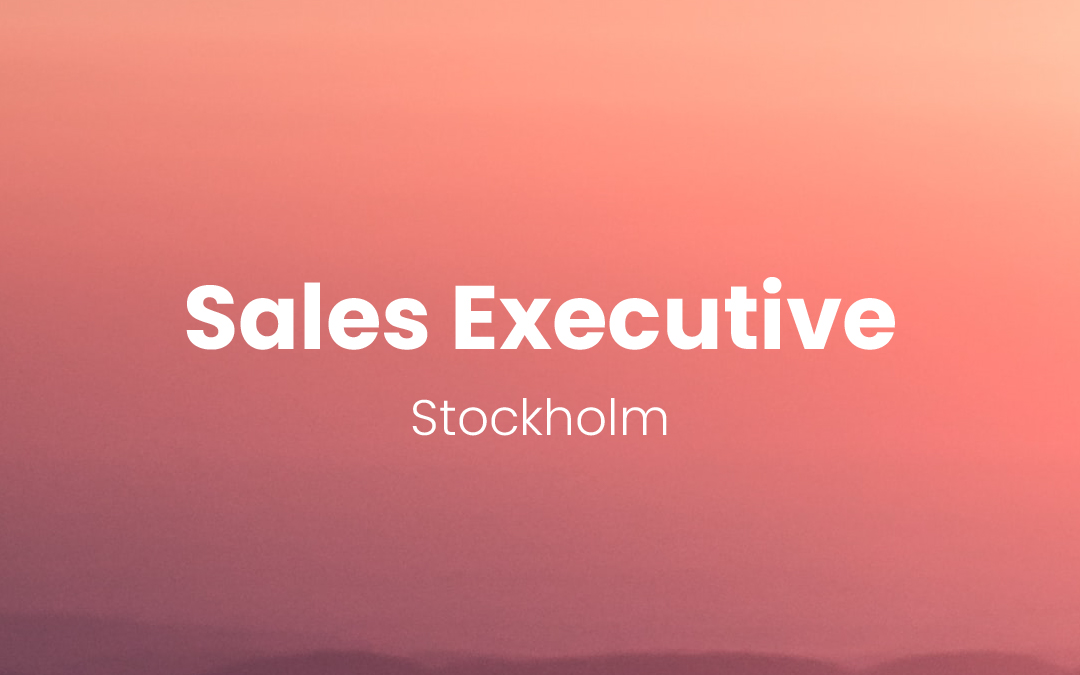 Sales Executive – Stockholm